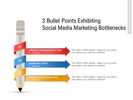 3 Bullet Points Exhibiting Social Media Marketing Bottlenecks