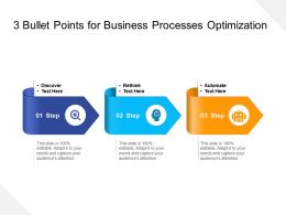 3 Bullet Points For Business Processes Optimization