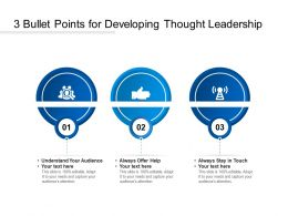 3 Bullet Points For Developing Thought Leadership