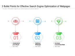 3 Bullet Points For Effective Search Engine Optimization Of Webpages