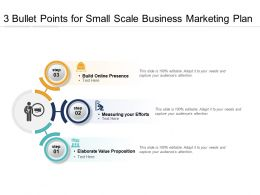 3 Bullet Points For Small Scale Business Marketing Plan