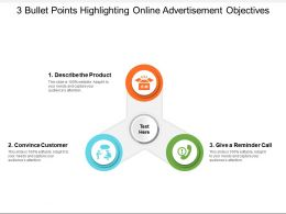3 Bullet Points Highlighting Online Advertisement Objectives