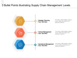 3 Bullet Points Illustrating Supply Chain Management Levels