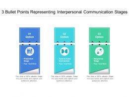 3 Bullet Points Representing Interpersonal Communication Stages
