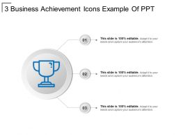 3 Business Achievement Icons Example Of Ppt