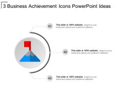 3 Business Achievement Icons Powerpoint Ideas