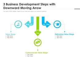 3 Business Development Steps With Downward Moving Arrow
