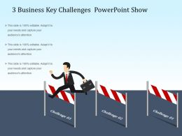 3 Business Key Challenges Powerpoint Show