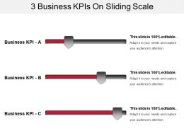 3 Business Kpis On Sliding Scale Ppt Example Professional