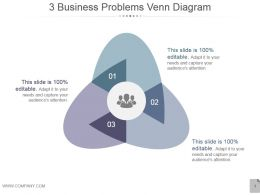 3 Business Problems Venn Diagram Example Of Ppt Presentation