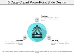 3 Cage Clipart Powerpoint Slide Design
