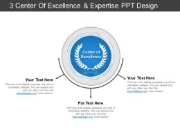 3 Center Of Excellence And Expertise Ppt Design