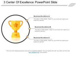 3 Center Of Excellence Powerpoint Slide