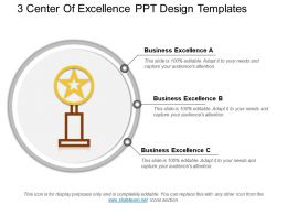 3 Center Of Excellence Ppt Design Templates