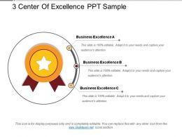 3 Center Of Excellence Ppt Sample
