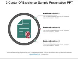 3 Center Of Excellence Sample Presentation Ppt