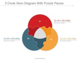 3 Circle Venn Diagram With Puzzle Pieces Good Ppt Example