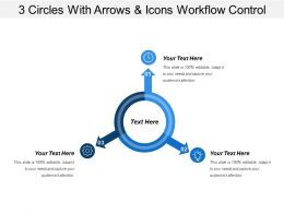 3 Circles With Arrows And Icons Workflow Control