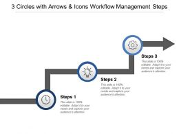 3 Circles With Arrows And Icons Workflow Management Steps