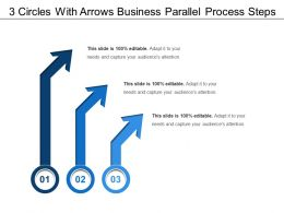 3 Circles With Arrows Business Parallel Process Steps