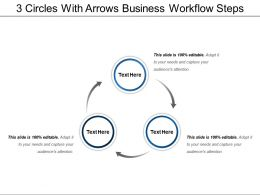3 Circles With Arrows Business Workflow Steps