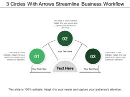3 Circles With Arrows Streamline Business Workflow