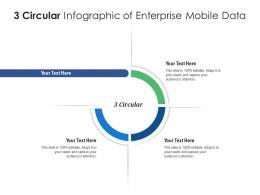 3 Circular Of Enterprise Mobile Data Infographic Template