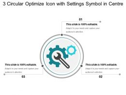 3 Circular Optimize Icon With Settings Symbol In Centre