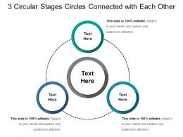 3 Circular Stages Circles Connected With Each Other