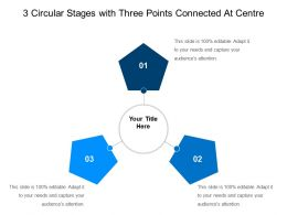 3 Circular Stages With Three Points Connected At Centre
