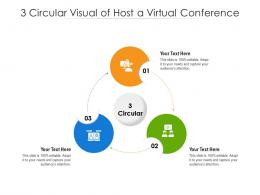 3 Circular Visual Of Host A Virtual Conference Infographic Template