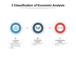3 Classification Of Economic Analysis