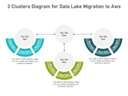 3 Clusters Diagram For Data Lake Migration To Aws Infographic Template