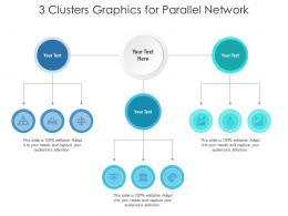 3 Clusters Graphics For Parallel Network Infographic Template