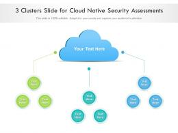 3 Clusters Slide For Cloud Native Security Assessments Infographic Template