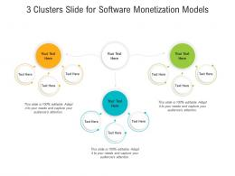 3 Clusters Slide For Software Monetization Models Infographic Template