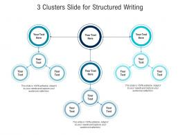 3 Clusters Slide For Structured Writing Infographic Template