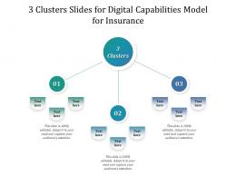 3 Clusters Slides For Digital Capabilities Model For Insurance Infographic Template