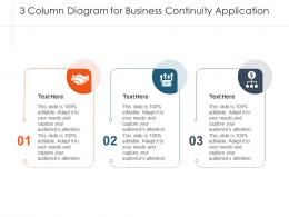 3 Column Diagram For Business Continuity Application Infographic Template