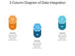 3 Column Diagram Of Data Integration Infographic Template