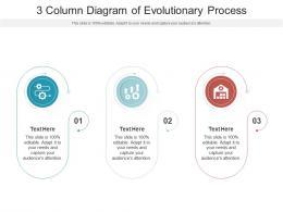 3 Column Diagram Of Evolutionary Process Infographic Template