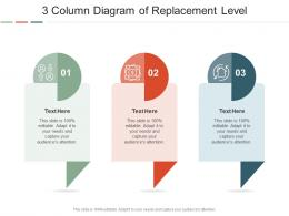 3 Column Diagram Of Replacement Level Infographic Template