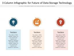 3 Column For Future Of Data Storage Technology Infographic Template