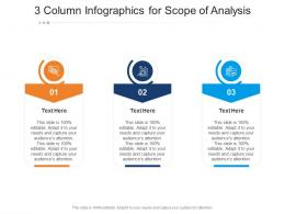 3 Column For Scope Of Analysis Infographic Template