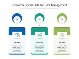 3 Column Layout Slide For Debt Management Infographic Template