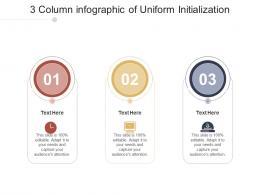 3 Column Of Uniform Initialization Infographic Template