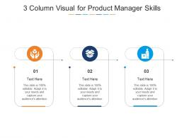 3 Column Visual For Product Manager Skills Infographic Template