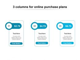 3 Columns For Online Purchase Plans