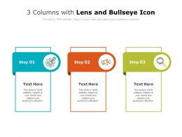 3 Columns With Lens And Bullseye Icon