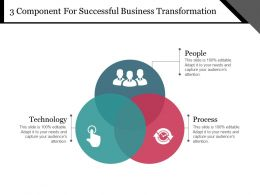 3 Component For Successful Business Transformation Example Of Ppt